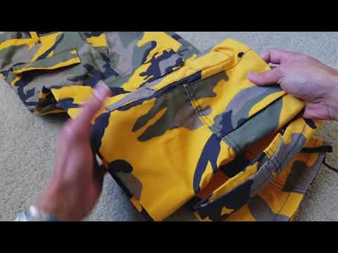 Unboxing Another Supreme Brooklyn Yellow Camo Colorway Pant FREE! 11 18 2017