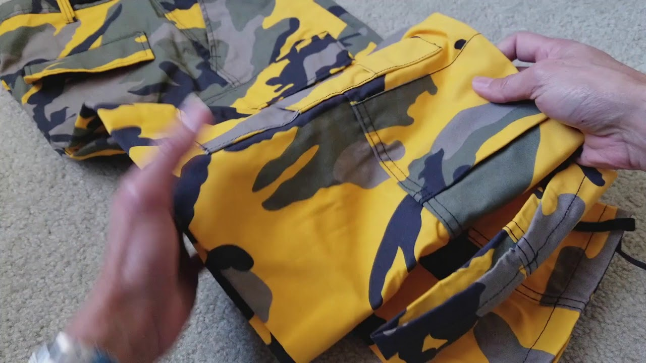 bd73e621e8e13 Unboxing Another Supreme Brooklyn Yellow Camo Colorway Pant FREE! 11 18 2017