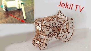 Как сделать мини трактор из катушки? (How to make mini tractor from the coil?)(https://vk.com/jekiltv Как сделать игрушечный трактор вездеход из катушки за 5 минут? 1:18-запуск 2:33-кот в игре ))), 2016-10-13T10:15:07.000Z)