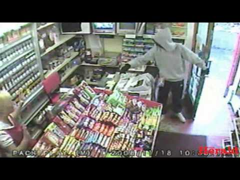 Knifepoint robbery at Plymouth shop