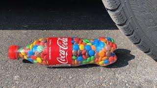 Crushing Crunchy & Soft Things by Car! EXPERIMENT: Car vs Coca Cola & M&M 3