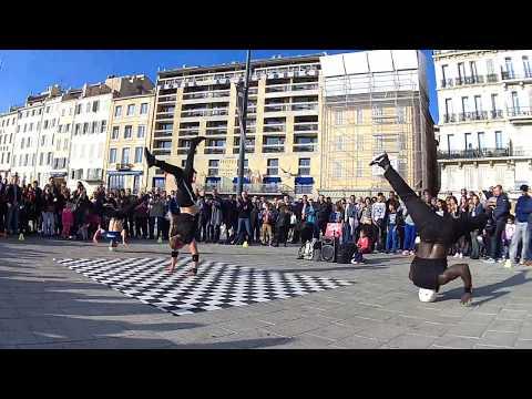 Франция Марсель, уличные танцоры