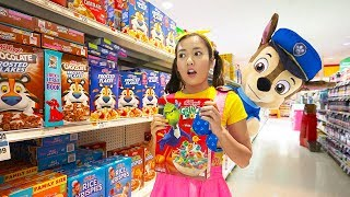 Paw Patrol Birthday Party Shopping and Genie Wishes with Ellie