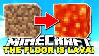 the floor is lava challenge in minecraft