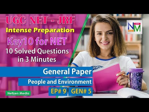 UGC NET Preparation Series EP# 9 | General Paper 5 | People and Environment