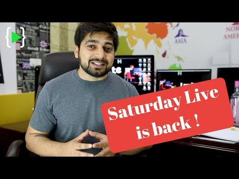 Saturday live for beginners in tech and programming