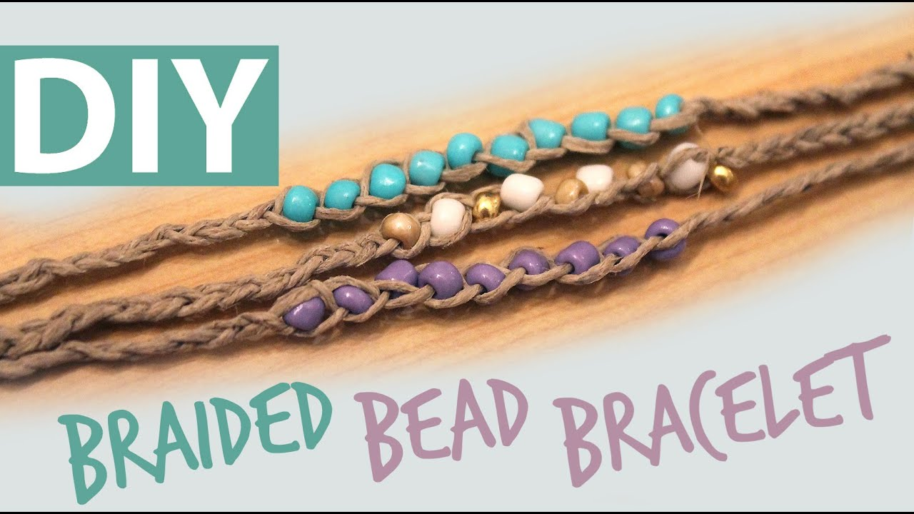 Diy braided bead bracelet artsypaints youtube solutioingenieria Images
