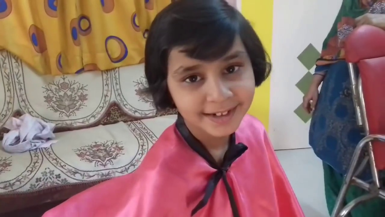 How To Cut Little Girl One Side Cut Bob Hair Cut Youtube
