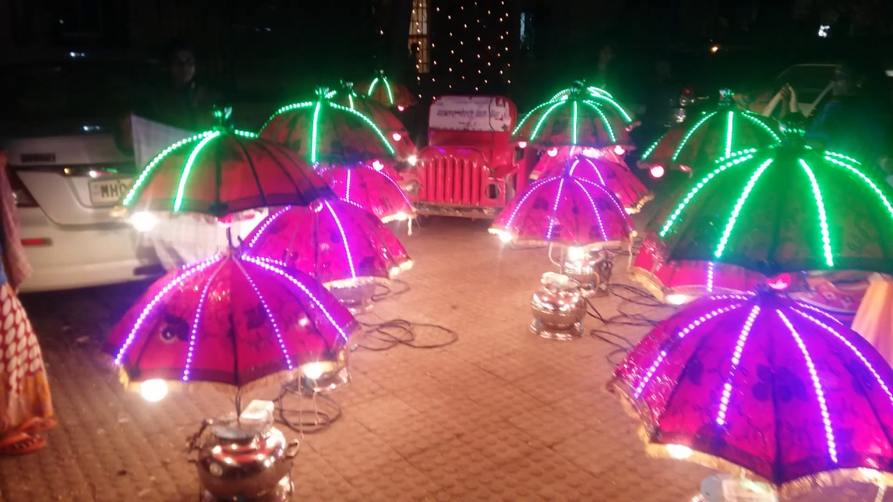 Wedding barat lighting in mumbai con 9870045755