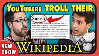 YouTubers React To And TROLL Their Own Wikipedia