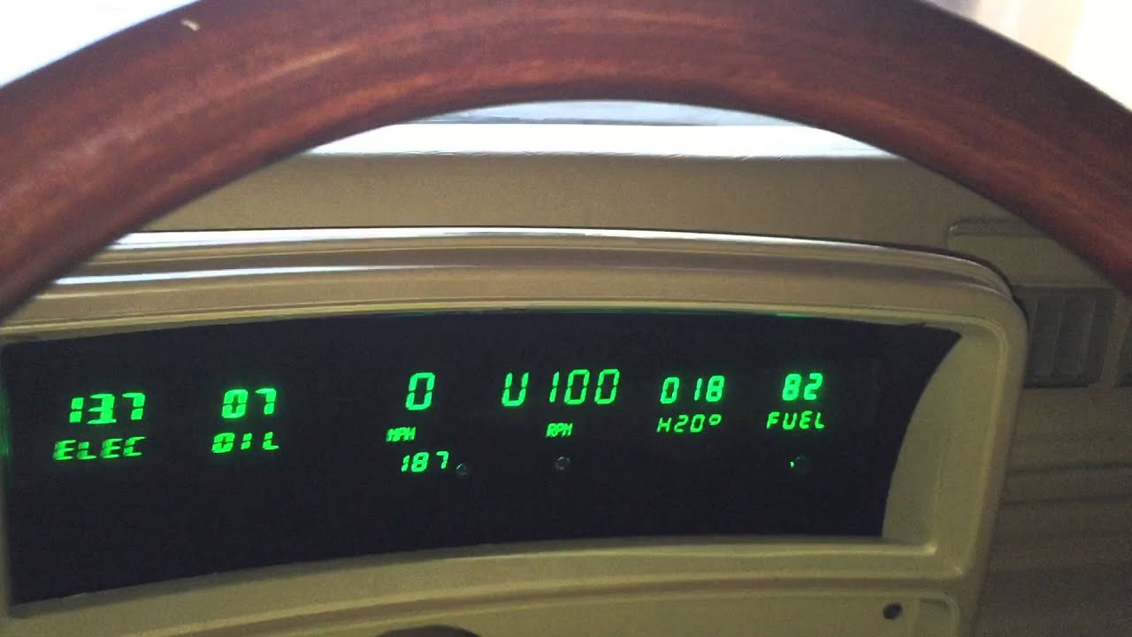 Intellitronix 6 Gauge LED Cluster in 1978 El Camino G- on