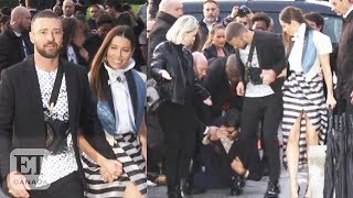 """After justin timberlake got tackled by a celebrity prankster during paris fashion week, roz weston and morgan hoffman react on """"et canada live""""subscribe to o..."""