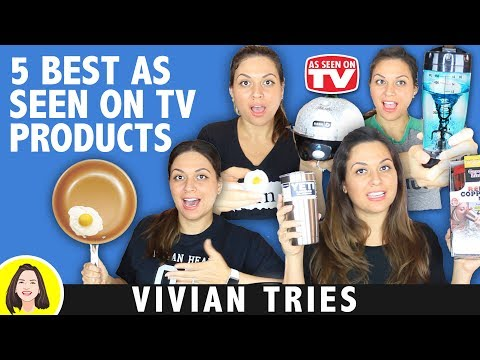 5 BEST AS SEEN ON TV PRODUCTS COPPER CRISPER, GOTHAM STEEL, YETI, RED COPPER MUG, TORNADO BOTTLE