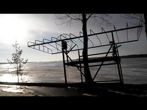 Ice fishing in Michigan