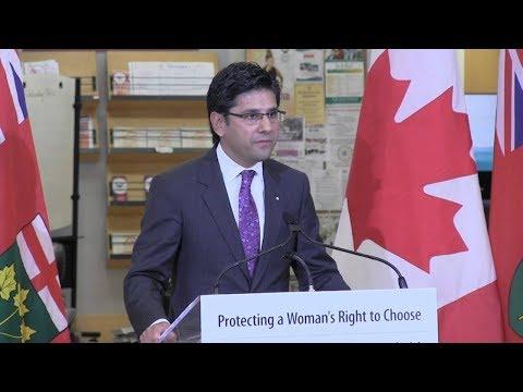 Ontario To Create Safe Zones Around Abortion Clinics