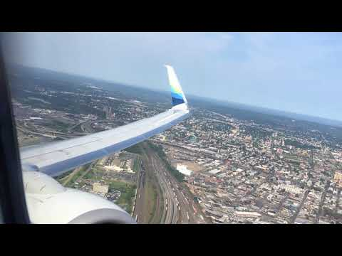 (HD) Alaska Airlines PREMIUM class Newark - Seattle 737-800