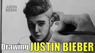 Drawing Justin Bieber by Juan Andres