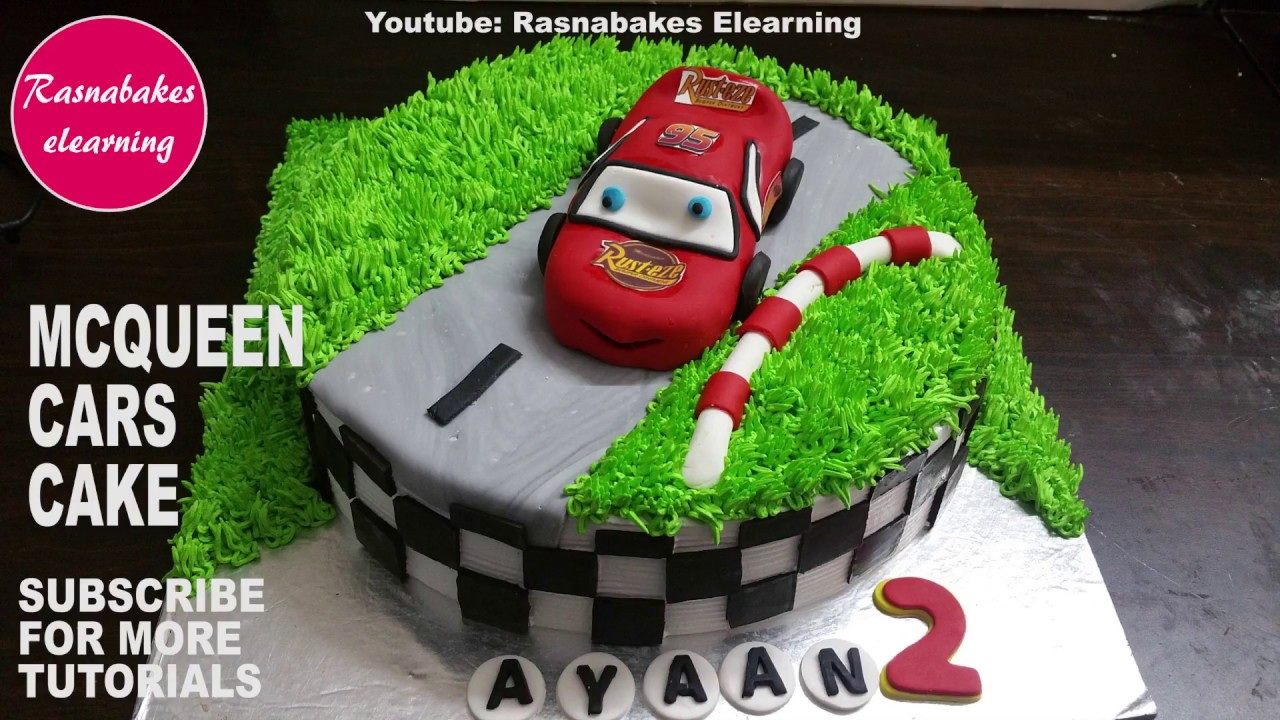 Lightning Mcqueen Cars Birthday Cake Car Cake Decorating Tutorial Cake Decorating Videos Youtube
