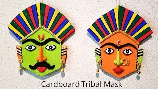 Easy Tribal Mask from cardboard