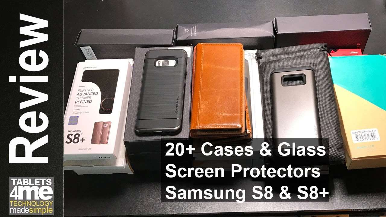 pretty nice 75eb9 a9360 20+ Cases and 3 Case Friendly Screen Protectors for the Samsung Galaxy S8  and Samsung Galaxy S8 Plus