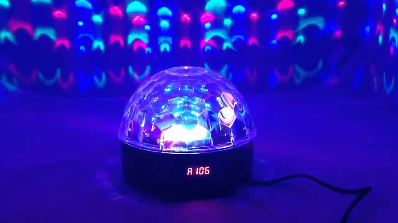 disco led light ball with music player youtube