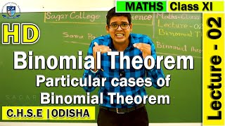 Mathematics | Binomial Theorem | Lecture -02 | Elements of Mathematics | Sagar College Balasore