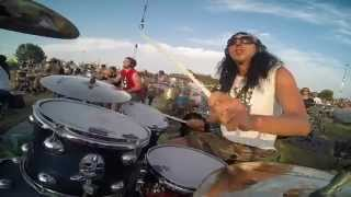 "Alex Galanti @ Rockin1000, plays ""Learn to Fly"" drum cover, drummers view (GoPro)"