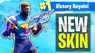 "New ""BRITE GUNNER"" Skin Gameplay! (Fortnite: Battle Royale Gameplay)"