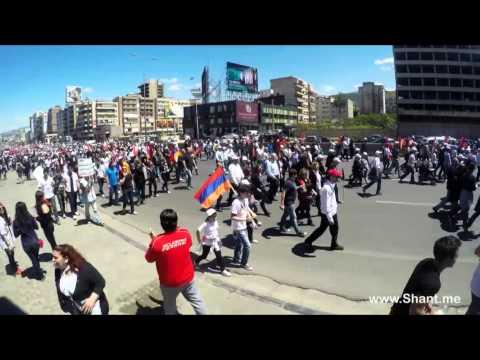 Armenian Genocide Centennial Commemoration - Timelapse Video - 24 April 2015 Lebanon
