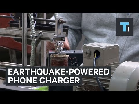 An engineer in Chile created a device that could use earthquake vibrations to charge phones