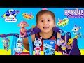 default - Fingerlings Playset - Monkey Bar Playground + Liv the Baby Monkey (Blue with Pink Hair)