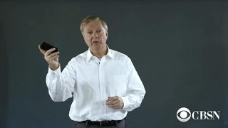 How to destroy your phone, featuring Sen. Lindsey Graham