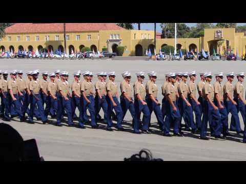 Marine Corps Recruit Depot San Diego Graduation Day, Video 15 Passing of Band & Graduates 9-2-16
