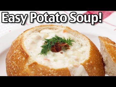 Easy Potato Soup Recipe – How To Make Potato Soup