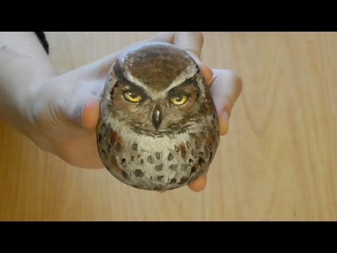 how to make rock owls