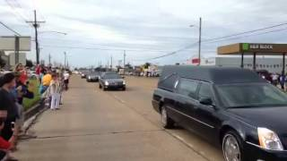 B.B. King funeral procession, Cleveland, Mississippi