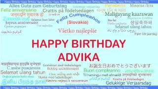 Advika   Languages Idiomas - Happy Birthday