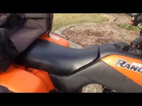 how to replace the air filter on your atv honda rancher 350 4x4  how to replace the air filter on your atv honda rancher 350 4x4 youtube