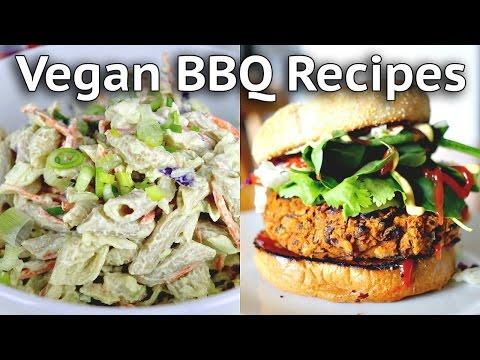 VEGAN BARBECUE RECIPES (Pasta Salad + Gochujang Burger Recipes)