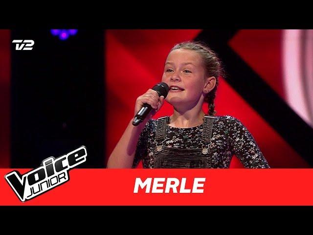 """Merle   """"Ildebrænd i Byen"""" af Natasja   Blind 1   Voice Junior Danmark 2017"""