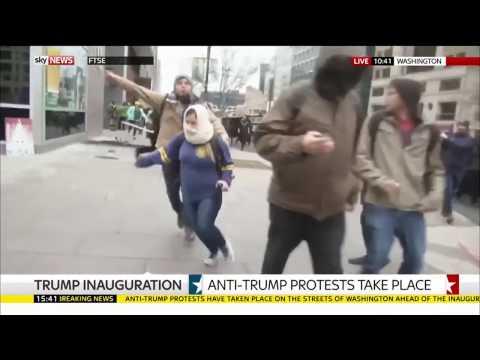Violent Anti-Trump Protest near Inauguration