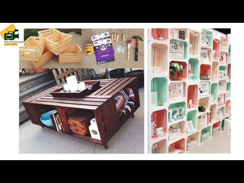 DIY Projects : 143 Crate Shelves.