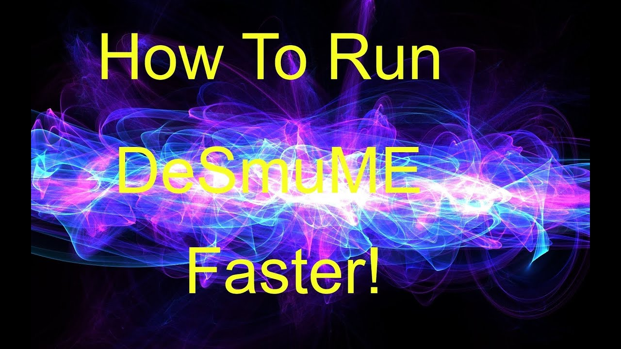 how to stop desmume from lagging