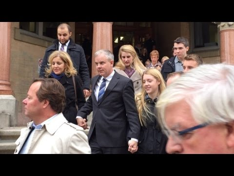 Oland leaves courthouse