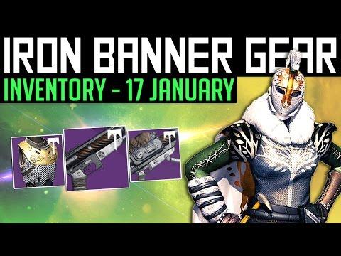 Destiny | IRON BANNER INVENTORY! - 17th January 2017 | The Binding Blaze & Titanium Orchid Rolls!