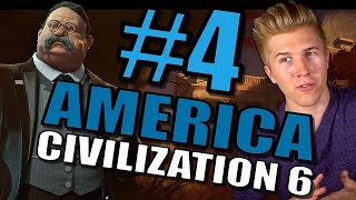 Civilization 6: Gameplay America [Let's Play USA 100+ Turns in Civ 6] Part 4