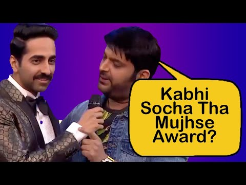 Ayushmann Khurrana Gets Style Innovation Award From Kapil Sharma
