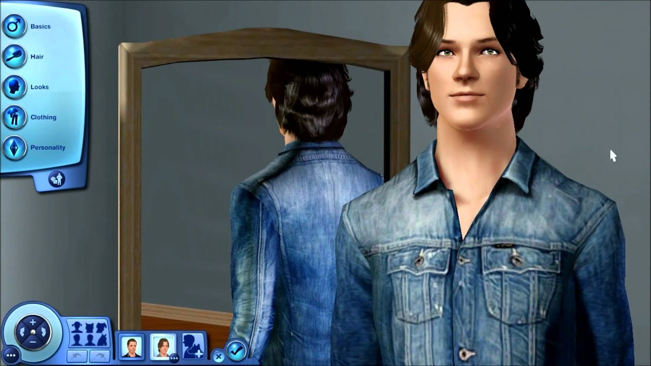 Sam @ Dean Winchester From The Supernatural TV Show in The Sims 3 Supernatural With Mods - YouTube