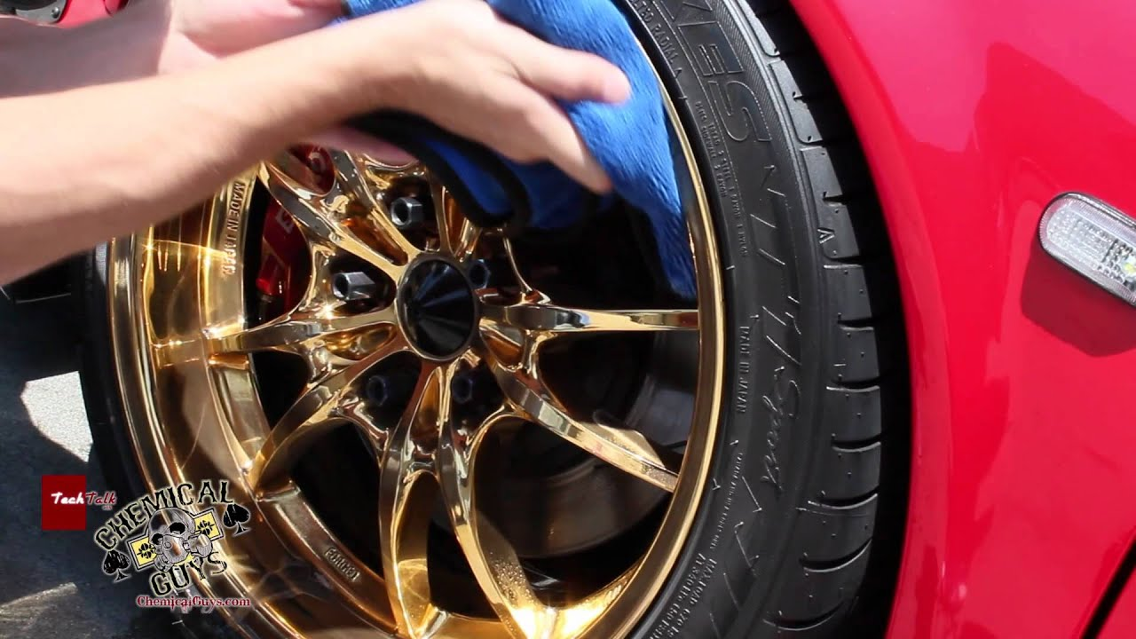 How To Clean Custom Gold Wheels Part 1 Chemical Guys Synthetic Quick Detailer Acura Nsx You