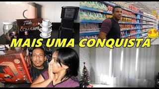 FAZENDO AS COMPRAS DO MÊS, CANTINHO DO CAFÉ, COLOCANDO A CORTINA NA SALA